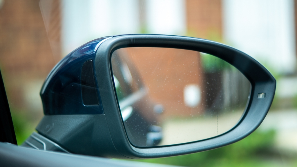 Photo of the wing mirror