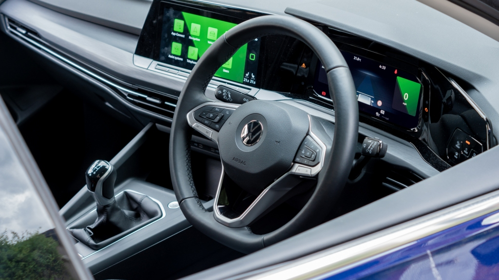 Photo of the drivers side dashboard.